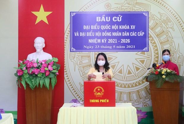 Vicepresidenta vietnamita participa en los comicios en la provincia de An Giang hinh anh 1