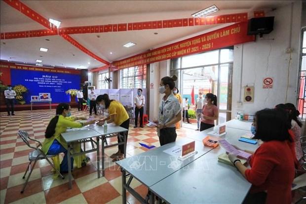 Supervisa presidente del Parlamento vietnamita jornada electoral hinh anh 3
