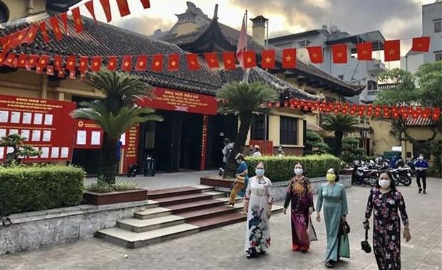 Seguridad y orden social garantizados durante elecciones en Vietnam hinh anh 1
