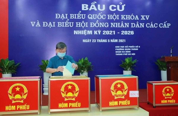 Inician elecciones legislativas en Vietnam hinh anh 1