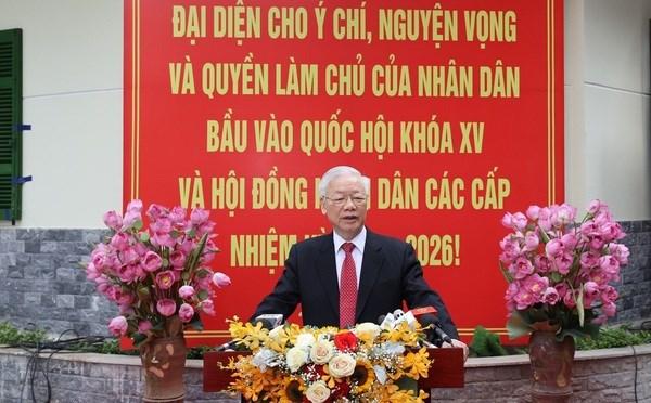 Maximo dirigente partidista: Vietnam entrara en nuevo periodo de desarrollo hinh anh 1