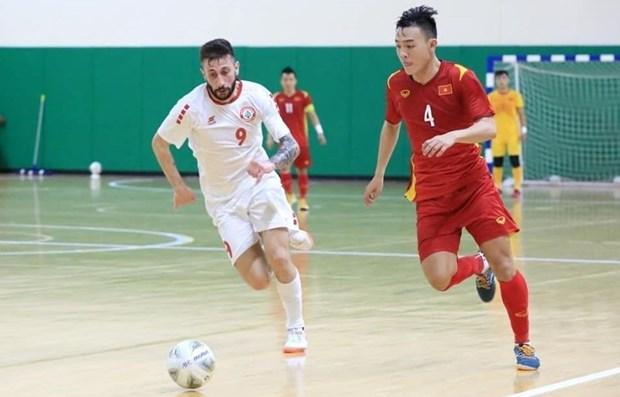 Seleccion de futsal de Vietnam empata sin goles ante Libano hinh anh 1
