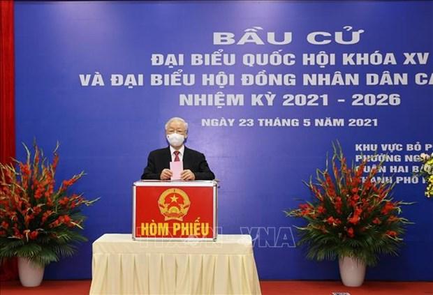 Agencias noticiosas internacionales valoran elecciones legislativas de Vietnam hinh anh 1