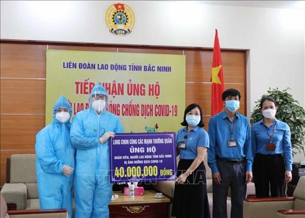 Apoyan a trabajadores afectados por el COVID-19 en provincia vietnamita de Bac Ninh hinh anh 1