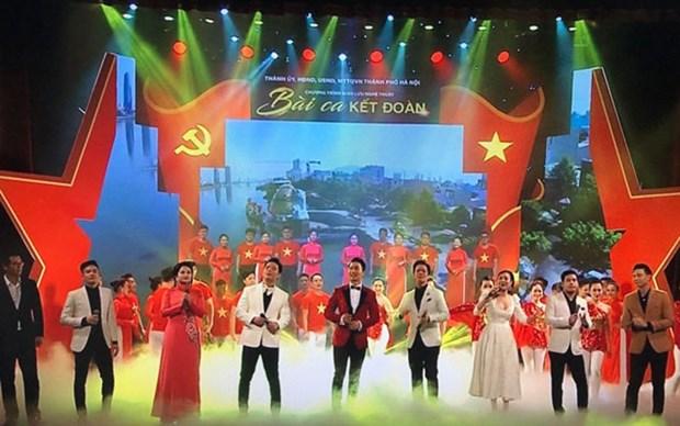 Programa artistico honra exito de elecciones legislativas en Vietnam hinh anh 1