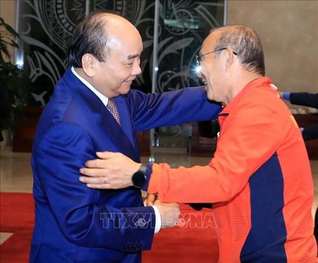 Presidente de Vietnam envia mensaje de aliento a la seleccion nacional de futbol hinh anh 1