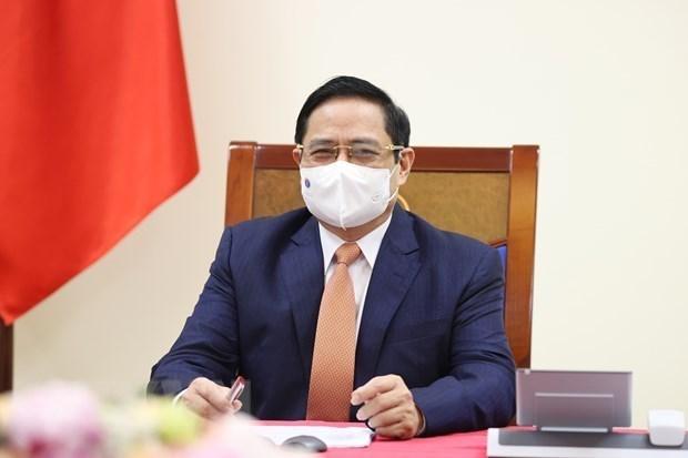 Premier vietnamita asiste a Cumbre de Asociacion para el Crecimiento Verde y los Objetivos Globales hinh anh 1