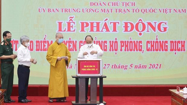 Presidente de Vietnam apela a la unidad del pueblo en lucha antiepidemica hinh anh 1