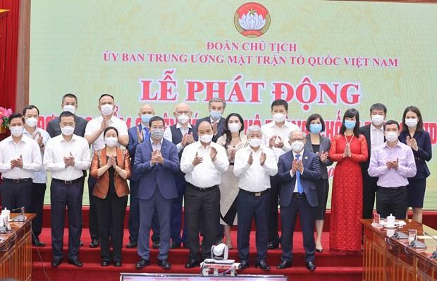 Presidente de Vietnam apela a la unidad del pueblo en lucha antiepidemica hinh anh 2