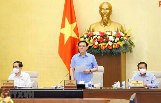 Concluye reunion 56 del Comite Permanente del Parlamento vietnamita hinh anh 1