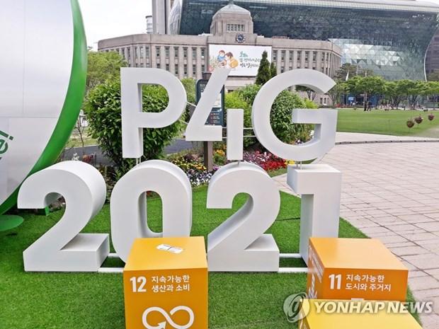 Inauguran Cumbre de Asociacion para Crecimiento Verde y Objetivos Globales 2030 hinh anh 1