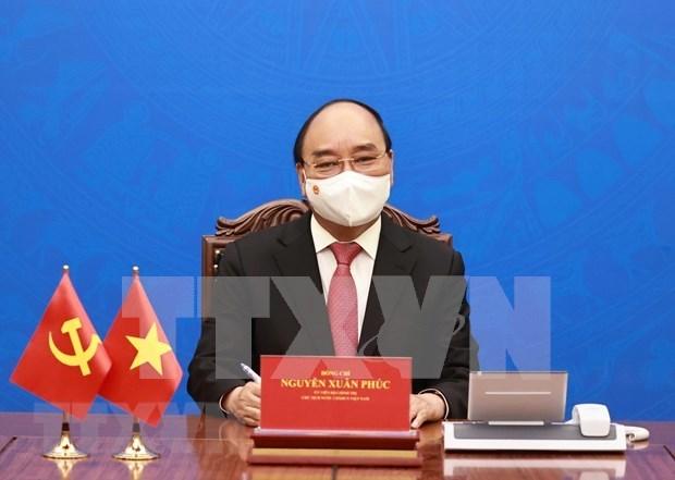 Vietnam aboga por impulsar la cooperacion con EE.UU. en respuesta a COVID-19 hinh anh 1