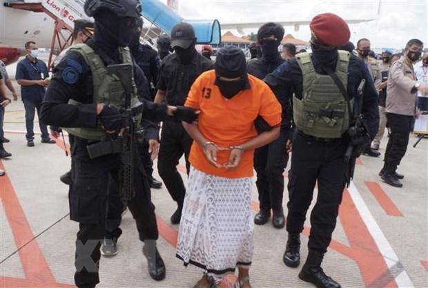 Indonesia detiene a 10 terroristas que planeaban ataques con bombas en Papua hinh anh 1