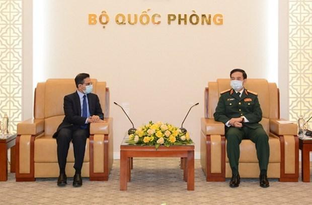 Ministro de Defensa recibe a embajadores de India y Corea del Sur hinh anh 1