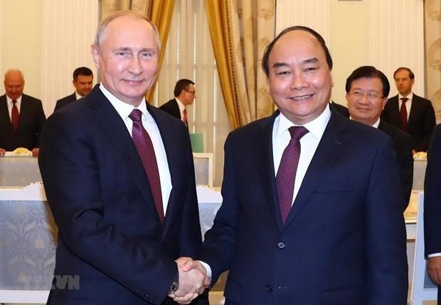 Presidente de Vietnam desea cooperar con Rusia en la respuesta a COVID-19 hinh anh 1