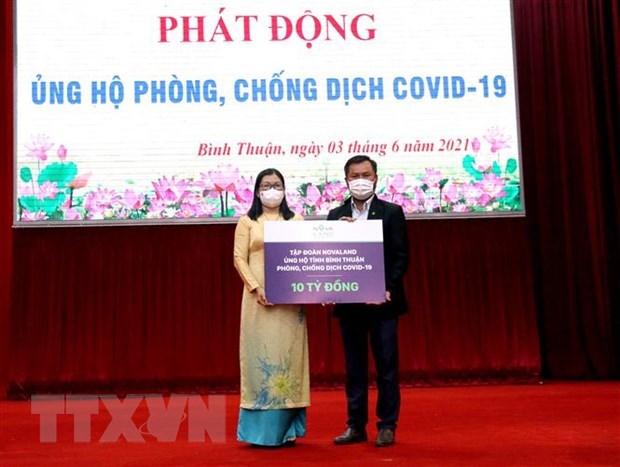 Mas fondos recaudados para la lucha contra el COVID-19 hinh anh 1