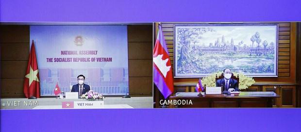 Robustecen nexos de cooperacion integral Vietnam-Camboya hinh anh 2