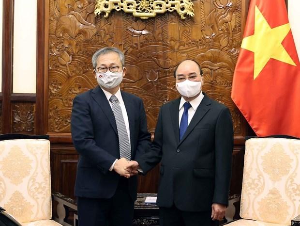 Presidente vietnamita estimula a empresas japonesas a aumentar inversiones en el pais hinh anh 1
