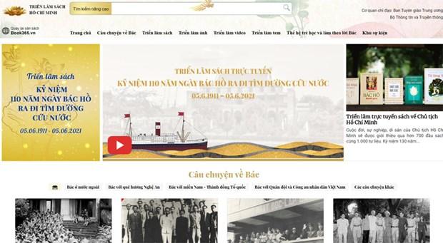 Inauguran feria del libro online sobre la vida y obra del Presidente Ho Chi Minh hinh anh 1