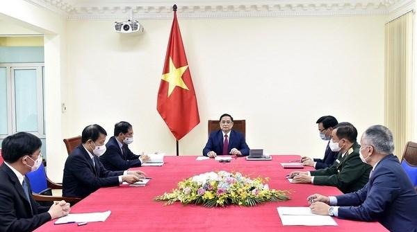 Primer ministro de Vietnam dialoga con su homologo de China hinh anh 1