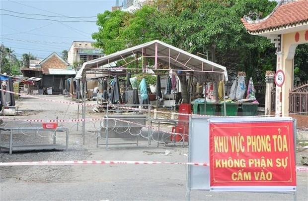 Localidades en provincia vietnamita de Tien Giang aplican distanciamiento social por el COVID-19 hinh anh 1