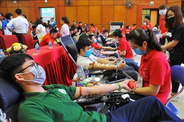 """""""Dona sangre para que el mundo siga latiendo"""", lema del Dia Mundial del Donante de Sangre 2021 hinh anh 1"""