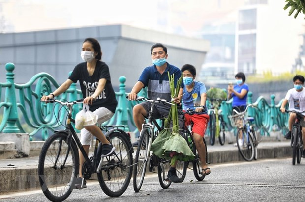 Bicicleta resurge como medio de transporte en Hanoi en epoca pandemica hinh anh 1
