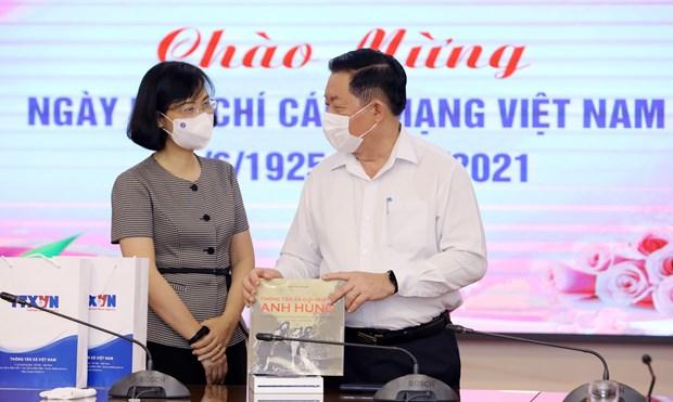 Felicitan a la Agencia Vietnamita de Noticias por el Dia de la Prensa Revolucionaria hinh anh 1