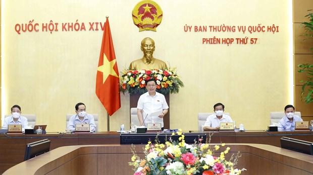Clausuran reunion 57 del Comite Permanente de Asamblea Nacional de Vietnam hinh anh 1