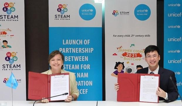 UNICEF apoya a ninos vietnamitas a mejorar sus habilidades digitales hinh anh 1