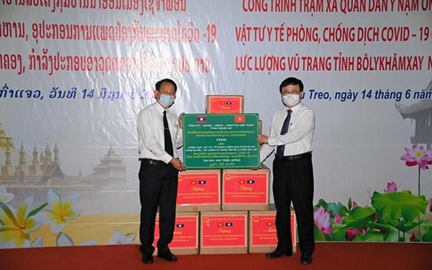 Provincia vietnamita de Nghe An apoya a Laos en combate contra el COVID-19 hinh anh 1