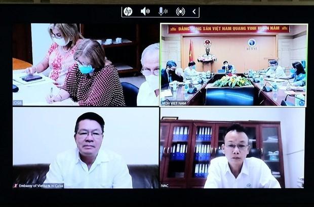 Vietnam y Cuba discuten cooperacion en produccion de vacunas contra COVID-19 hinh anh 1
