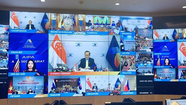 Legisladores vietnamitas participan en reunion del Grupo asesor de la AIPA hinh anh 1