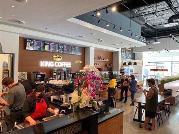 Firma vietnamita abrio primera tienda de cafe en Estados Unidos hinh anh 1