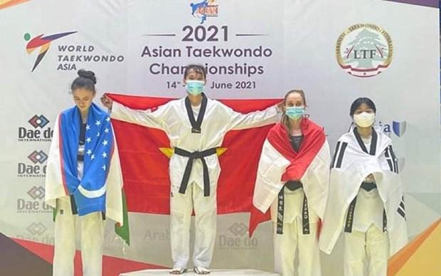 Vietnam gana medalla de oro en campeonato asiatico de taekwondo hinh anh 1