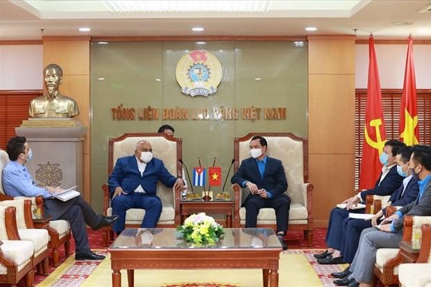 Dirigente sindical de Vietnam ratifica solidaridad invariable con Cuba hinh anh 1