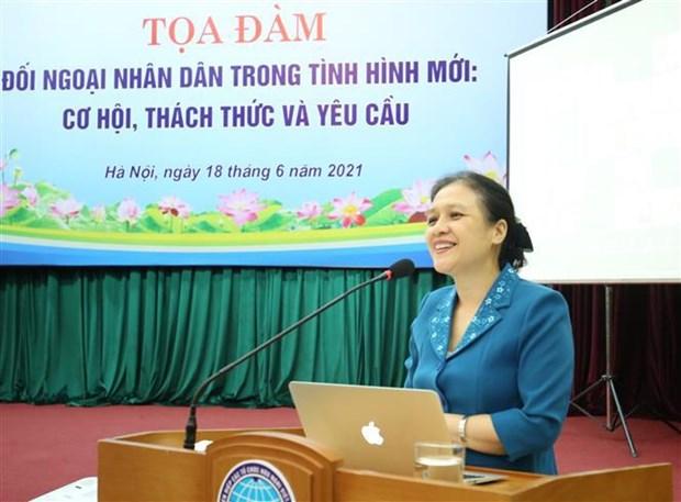 Oportunidades para la diplomacia popular vietnamita en nueva situacion hinh anh 2