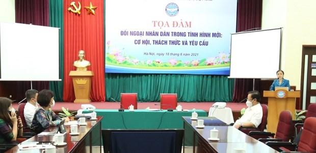 Oportunidades para la diplomacia popular vietnamita en nueva situacion hinh anh 1