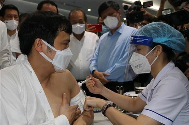 Comienza Ciudad Ho Chi Minh mayor campana de vacunacion contra el COVID-19 hinh anh 1