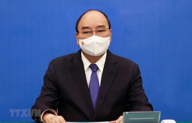 Presidente de Vietnam sostiene conversacion telefonica con secretario general de la ONU hinh anh 1