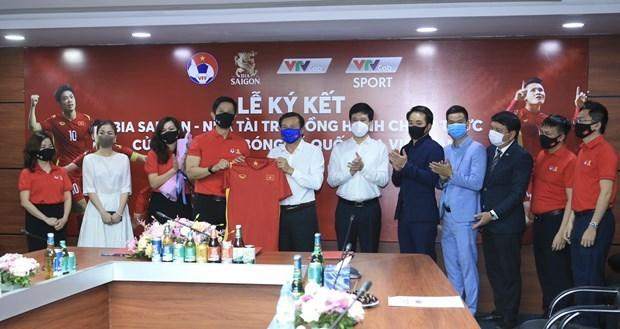 Empresa SABECO patrocinara a las selecciones nacionales de futbol de Vietnam hinh anh 1