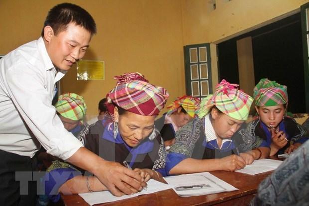 Mas de 300 mil personas vietnamitas salen del analfabetismo en ocho anos hinh anh 1