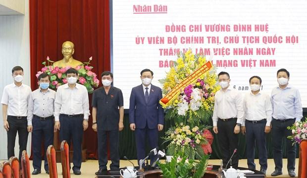 Presidente del Parlamento felicita al diario Nhan Dan por Dia de Prensa Revolucionaria de Vietnam hinh anh 1