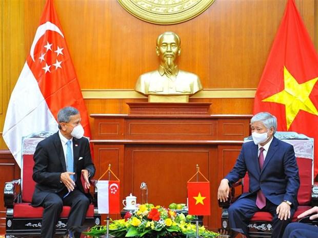 Promueven Vietnam y Singapur intercambio pueblo a pueblo hinh anh 1