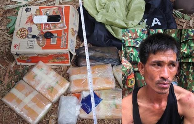 Detienen a un laosiano por transportar drogas a Vietnam hinh anh 1