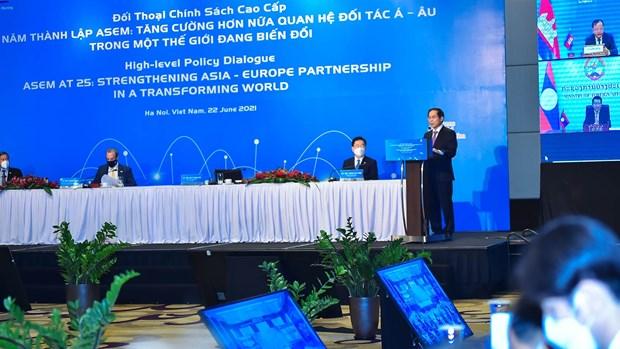 Preside Vietnam Dialogo de Politicas de alto nivel de ASEM hinh anh 2