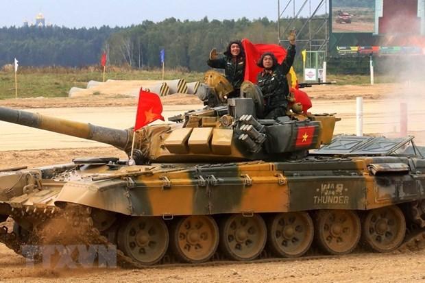 Equipo vietnamita de artilleria, listo para los Juegos Militares Internacionales 2021 hinh anh 1