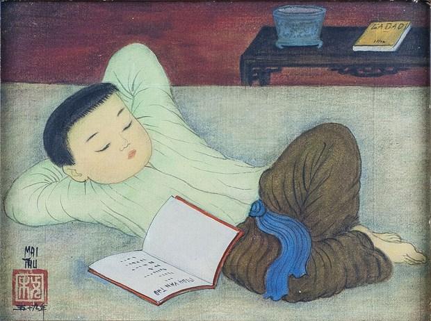 Exhiben obras de conocido pintor vietnamita en Francia hinh anh 1