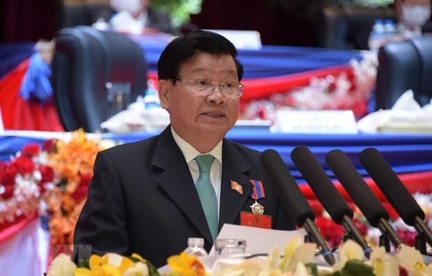 Maximo dirigente politico de Laos visitara Vietnam hinh anh 1
