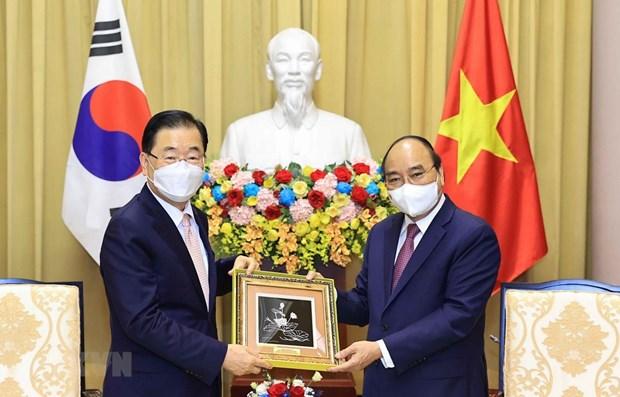 Presidente de Vietnam reitera determinacion de promover cooperacion con Corea del Sur hinh anh 1